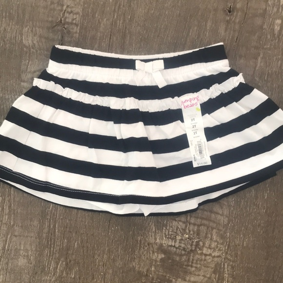 Black and white striped skort- toddler f3b5f296c